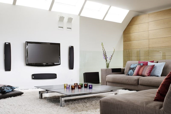 Marvelous-TV-Flat-Screen-in-the-White-Wall-Decor-Gray-Sofa-Modern-Style-Contemporary-Living-Room-Furniture