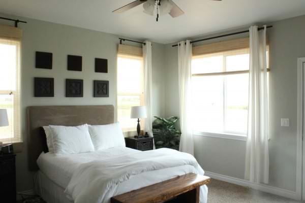 Comely-bedroom-curtains-with-white-color-wall-and-glass-window