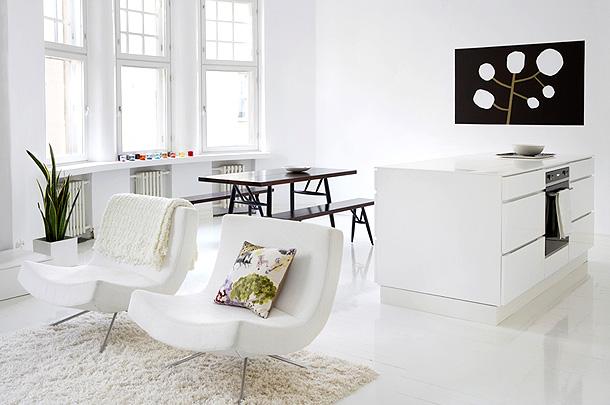 Контрастные цвета в интерьере по проекту Сюзанны Венто
