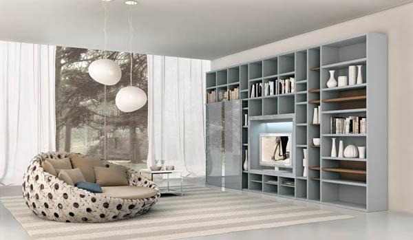 Идеи интерьера гостиной от итальянской компании Alf Da Fre
