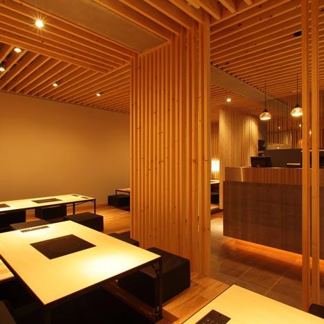 Интерьер ресторана в Японии