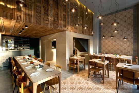 Интерьер ресторана в Афинах