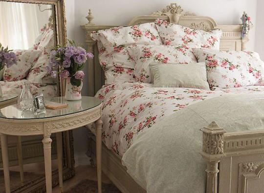 Стиль шебби-шик в интерьере спальни
