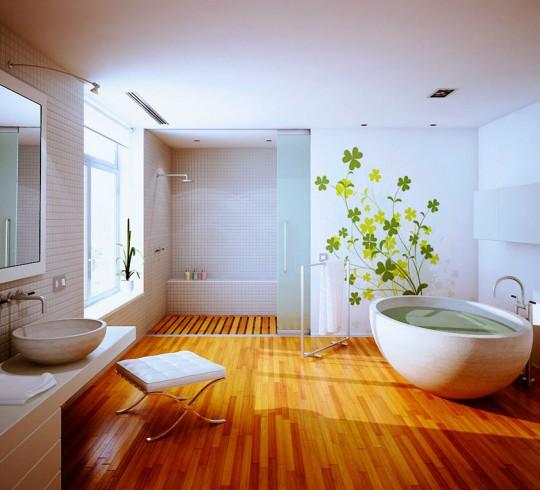 Какой пол выбрать для ванной
