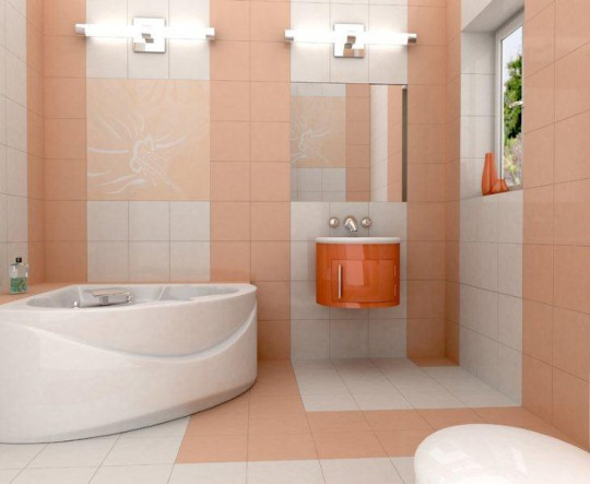 Ванная в розовом цвете