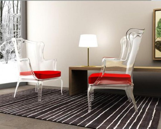 Прозрачные стулья - стильно и функционально