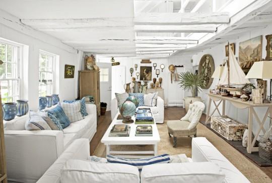 Фотографии красивых гостиных с использованием голубого цвета