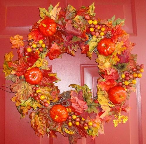 Осенние венки на Хэллоуин