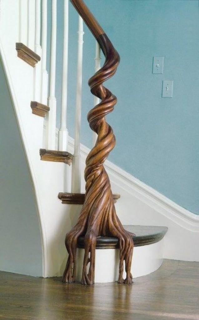 Оригинальный дизайн перил лестниц от разных дизайнеров