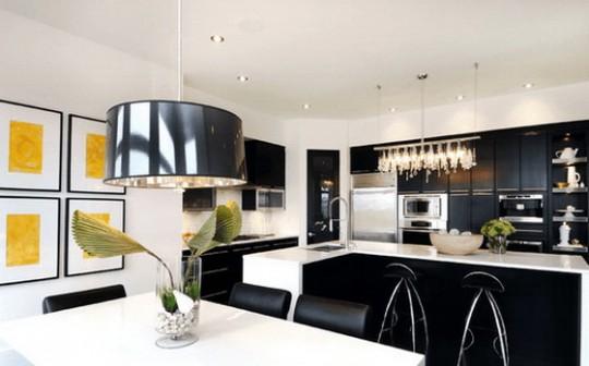 Темные цвета в интерьере кухни