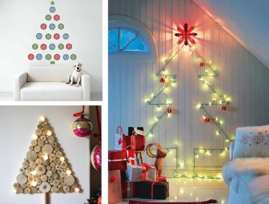 Новогодняя елка на стене