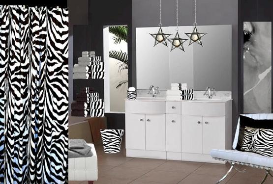 Зебра дизайн ванной комнаты знаменитости в ванной комнате