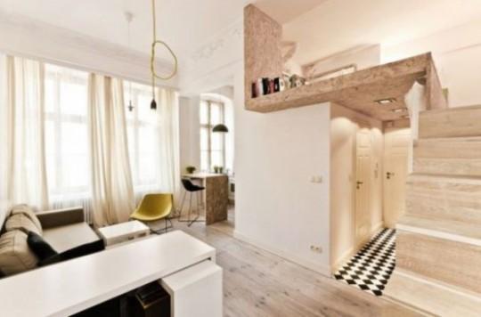 Продуманный дизайн очень маленькой квартиры