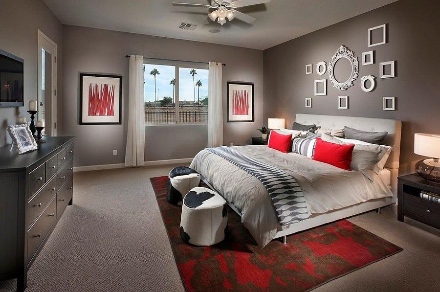 Комната в серых тонах дизайн