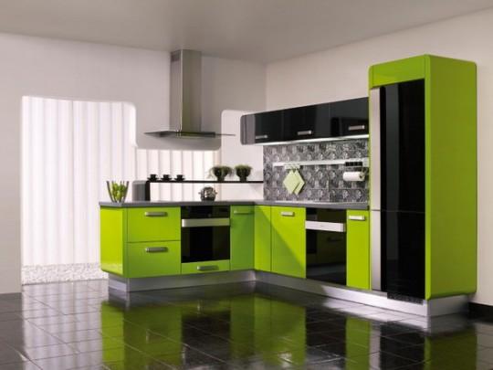 Яркие цвета мебели для кухни