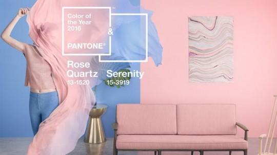 Rose Quartz и Serenity - главные цвета 2016 года по версии Pantone